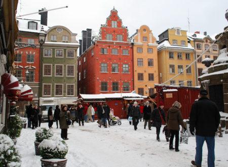 Vánoční trhy v historické části Stockholmu