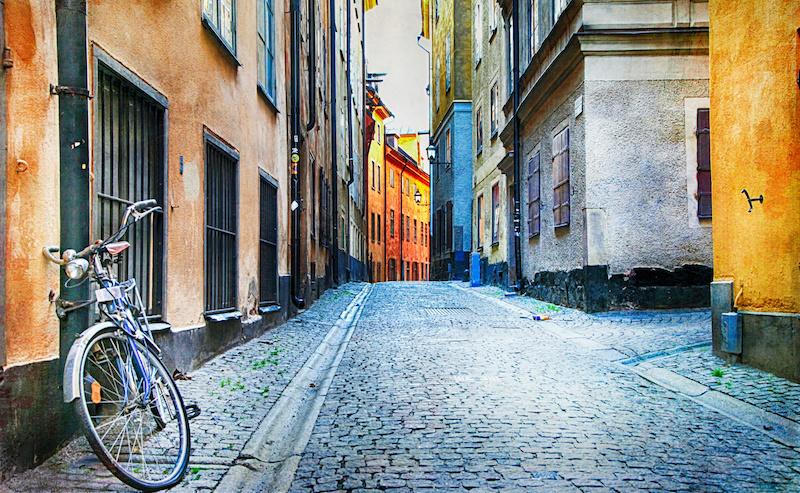 Stockholmské ulice ve starém městě
