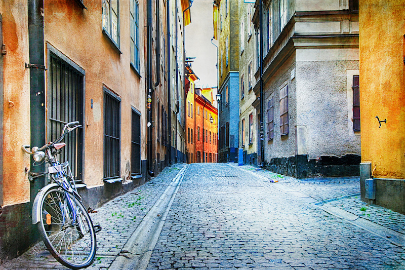 Stockholmem na kole