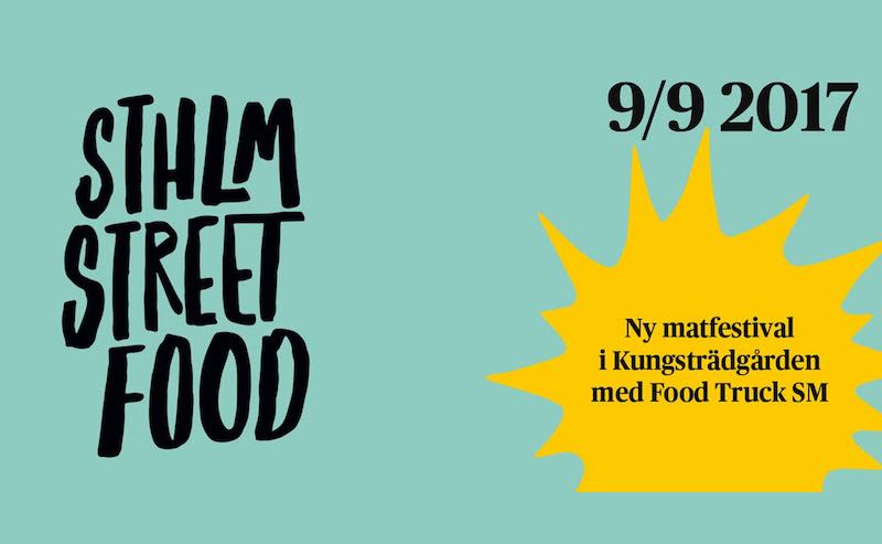 Pouliční festival jídla ve Stockholmu